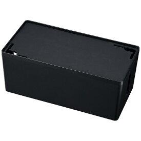 サンワサプライ SANWA SUPPLY ケーブル&タップ収納ボックス Mサイズ (W320×D160×H132mm・ブラック) CB-BOXP2BKN2[CBBOXP2BKN2]