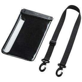 サンワサプライ SANWA SUPPLY タブレット防水防塵ケース(スタンド付き・ショルダーベルト付き・8インチ・ブラック) PDA-TABWPST8 ブラック[PDATABWPST8]