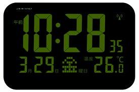 アデッソ ADESSO 掛け置き兼用時計 【ADESSO(アデッソ)】 ブラック OP-05 [デジタル /電波自動受信機能有]