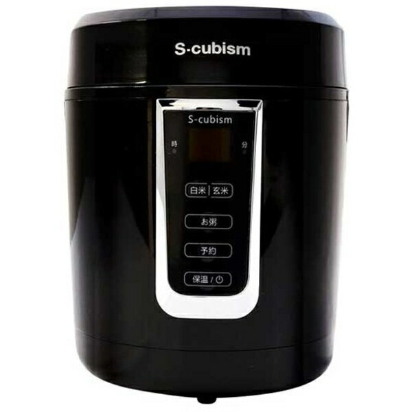 エスキュービズムエレクトリック S-cubism SCR-H15B 炊飯器 S-cubism ブラック [1.5合][SCRH15B]