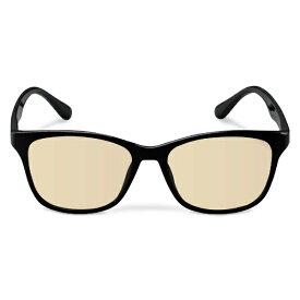 エレコム ELECOM ブルーライトカット眼鏡/ブラウンレンズ/ウェリントンフレーム/ブラック G-BUB-W02BK[GBUBW02BK]