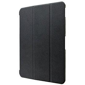 MSソリューションズ iPad Pro 2018 11インチ用 背面クリアフラップケース 「Clear Note」 LP-IPPMLCBK ブラック