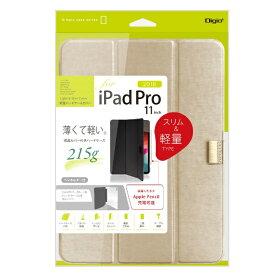 ナカバヤシ Nakabayashi iPadPro11inch(2018)用軽量ハードケースカバー TBC-IPP1804NB ゴールド