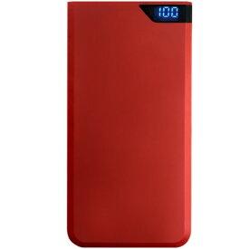 オズマ OSMA スマートフォン用モバイルバッテリー/PSE技術基準適合品/10000mAh LUMM100SCCJSR レッド [10000mAh /2ポート /microUSB /充電タイプ]