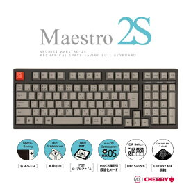 ARCHISS アーキス AS-KBM02/LGBA ゲーミングキーボード CHERRY MX 黒軸 Mestro2S 黒 [USB /有線][ASKBM02LGBA]