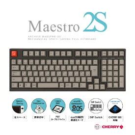 ARCHISS アーキス AS-KBM02/CGBA ゲーミングキーボード CHERRY MX 青軸 Mestro2S 黒 [USB /有線][ASKBM02CGBA]