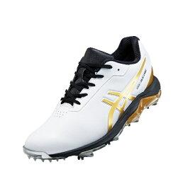 ダンロップ(アシックス) 27.5cm メンズ ゴルフシューズ GEL-ACE PRO 4(ホワイト×リッチゴールド) 1113A013