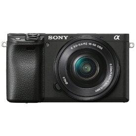 ソニー SONY ILCE-6400L-B ミラーレス一眼カメラ パワーズームレンズキット α6400 ブラック [ズームレンズ][ILCE6400LB]