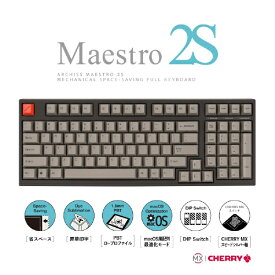 ARCHISS アーキス AS-KBM98/LSGB ゲーミングキーボード CHERRY MX スピードシルバー軸 Mestro2S 黒 [USB /有線][ASKBM98LSGB]