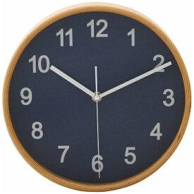 不二貿易 Fuji Boeki 掛け時計 プライウッド ネイビー 85361