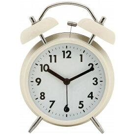 不二貿易 Fuji Boeki 目覚まし時計 ベル アイボリー 32704