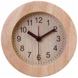 不二貿易 Fuji Boeki 目覚まし時計 ウッド ラウンド ナチュラル 36699