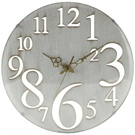 不二貿易 Fuji Boeki 掛け時計 レトロ ホワイト 56920