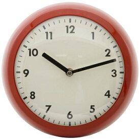 不二貿易 Fuji Boeki 掛け時計 レトロ レッド 64742