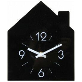 不二貿易 Fuji Boeki 置き時計 ハウス ブラック 99056