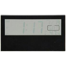 不二貿易 Fuji Boeki 置き時計 デジタル クリア ブラック 99063