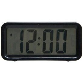 不二貿易 Fuji Boeki 置き時計 デジタル ブロック ブラック 99065
