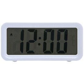 不二貿易 Fuji Boeki 置き時計 デジタル ブロック ホワイト 99066