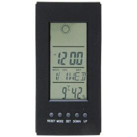 不二貿易 Fuji Boeki 置き時計 デジタル プロメ ブラック 99067