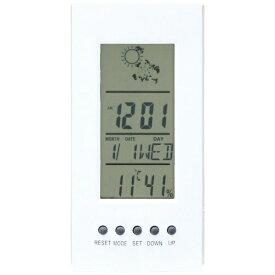 不二貿易 Fuji Boeki 置き時計 デジタル プロメ ホワイト 99068