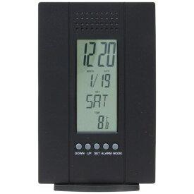 不二貿易 Fuji Boeki 置き時計 デジタル テウス ブラック 99069