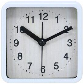 不二貿易 Fuji Boeki 置き時計 スクエア ウィル ホワイト 99072