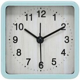 不二貿易 Fuji Boeki 置き時計 スクエア ウィル ブルー 99073