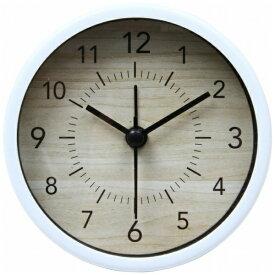 不二貿易 Fuji Boeki 置き時計 ラウンド ゾーイ ホワイト 99075