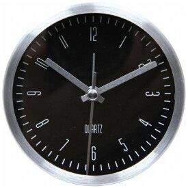 不二貿易 Fuji Boeki 置き時計 ラウンド イースト シルバー/ブラック 99077