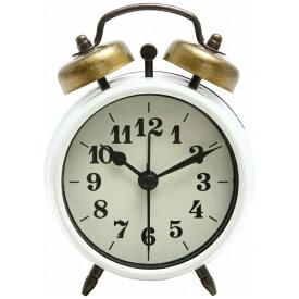 不二貿易 Fuji Boeki 置き時計 ベルアラーム アイボリー 99079