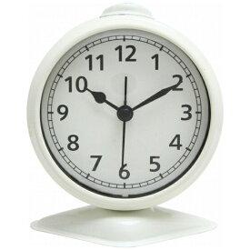不二貿易 Fuji Boeki 置き時計 テーブルアラーム アイボリー 99083