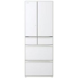 日立 HITACHI 《基本設置料金セット》R-KW57K-XW 冷蔵庫 ぴったりセレクト KWタイプ クリスタルホワイト [6ドア /観音開きタイプ /567L][冷蔵庫 大型 RKW57K]【zero_emi】