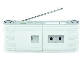東芝 TOSHIBA 【ワイドFM対応】CDラジカセ(ラジオ・CD・カセットテープ) TY-CDV1(W)[ラジカセ cd プレーヤー 薄型 コンパクト TYCDV1W]