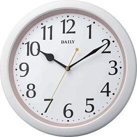 リズム時計 RHYTHM 掛け時計 デイリーM813 ピンク(白) 8MG813DN13