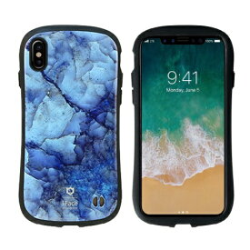 HAMEE ハミィ iPhone X用 iFace First Class Marbleケース ブルー IP8IFACEMARBLEBL
