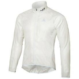 ルコック le coq Mサイズ メンズ サイクルウエア 長袖クリアジャケット(ホワイト) QCMLGC20