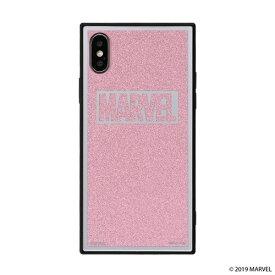 HAMEE ハミィ [iPhone XS/X専用]MARVEL/マーベルTILEケース/ロゴ 151-905128 ピンク/グリッター