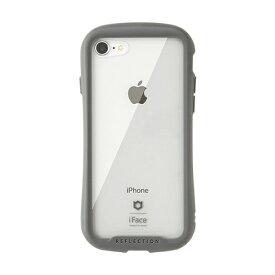 HAMEE ハミィ iPhone SE(第2世代)4.7インチ/ iPhone 8/7専用 iFace Reflectionハイブリッドガラスケース(グレー) 41-907115