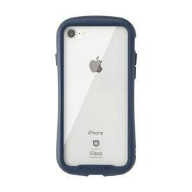 HAMEE ハミィ iPhone SE(第2世代)4.7インチ/ iPhone 8/7専用 iFace Reflectionハイブリッドガラスケース(ネイビー) 41-907122