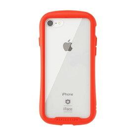 HAMEE ハミィ iPhone SE(第2世代)4.7インチ/ iPhone 8/7専用 iFace Reflectionハイブリッドガラスケース(レッド) 41-907139