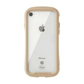 HAMEE ハミィ iPhone SE(第2世代)4.7インチ/ iPhone 8/7専用 iFace Reflectionハイブリッドガラスケース(ベージュ) 41-907146