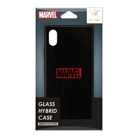 PGA iPhone XR用 ガラスハイブリッドケース PG-DCS620BK ロゴ/ブラック