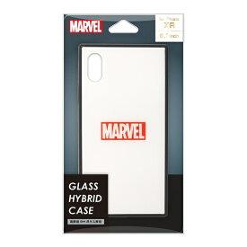 PGA iPhone XR用 ガラスハイブリッドケース PG-DCS621WH ロゴ/ホワイト