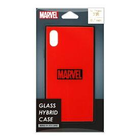 PGA iPhone XR用 ガラスハイブリッドケース PG-DCS622RD ロゴ/レッド