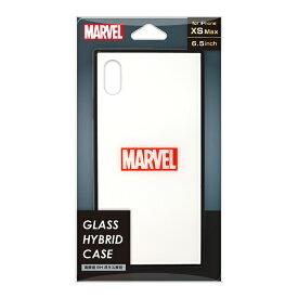PGA iPhone XS Max用 ガラスハイブリッドケース PG-DCS631WH ロゴ/ホワイト