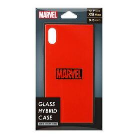 PGA iPhone XS Max用 ガラスハイブリッドケース PG-DCS632RD ロゴ/レッド