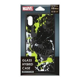 PGA iPhone XS Max用 ガラスハイブリッドケース PG-DCS634BK スプラッシュロゴ/ブラック