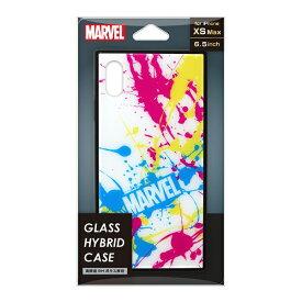 PGA iPhone XS Max用 ガラスハイブリッドケース PG-DCS635WH スプラッシュロゴ/ホワイト
