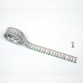 バンデ bande マスキングロールステッカー 花数字 1 BDA375