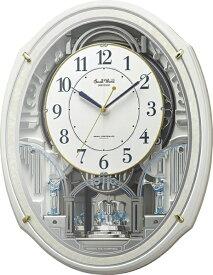 リズム時計 RHYTHM からくり時計 【スモールワールドアルディN】 パール 4MN553RH03 [電波自動受信機能有]